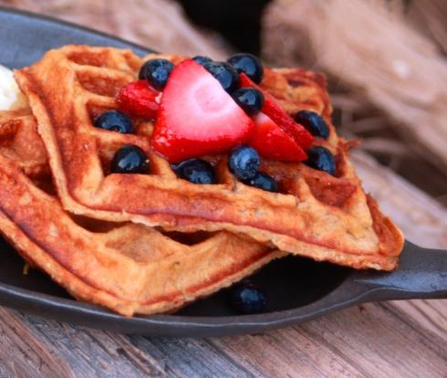 Honey Yogurt Pecan Waffles